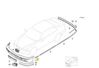 Original BMW E39 Stossleiste Seitenwand grundiert vorne links 51137036697 Neu