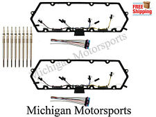 Pair Powerstroke 7.3 L Valve Cover Gaskets, 8 MM Glow Plugs, Injector Harness