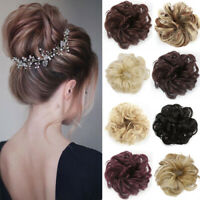 Curly Messy Bun Hair Piece Scrunchie Updo Cover Hair Extensions