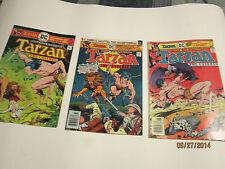 3 Edgar Rice Burroughs Tarzan comics  from 1976