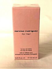 Narciso Rodriguez for her Women EDT 4 Pcs x 0.25 oz Spray 1 oz Total New Sealed