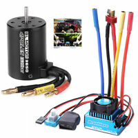 45/60/80/120A ESC/3900KV Splashproof Brushless Motor for 1:10 RC Car Truck New