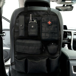 """22"""" Car Seat Back Organizer Tactical MOLLE Vehicle Cover Protector Storage Bag"""