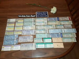1999-2008 WIDESPREAD PANIC 40 ticket lot with 2 rare stickers EAT DRINK PANIC RE