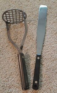 Vintage Flint Arrow Potato Masher and Spreader Stainless Steel
