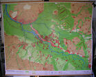 Schulwandkarte Wall Map Card Bremen Bremer Basin Hansestadt 86 5/8x70 1/8in