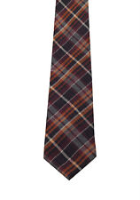 New Gucci Brown Patterned Checked Tie