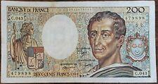 Billet 200 francs Montesquieu 1986 FRANCE  C.043
