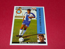 MIGUEL HERNANDEZ ESPANYOL BARCELONA PANINI LIGA 95-96 ESPANA 1995-1996 FOOTBALL