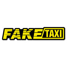 Fake Taxi Sticker Decal Funny Vinyl Car Bumper 7258EN