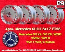 4 cerchi Mercedes W 124 129 201 203 208 210 Gulli Felgen 8x17 TÜV wheels jantes