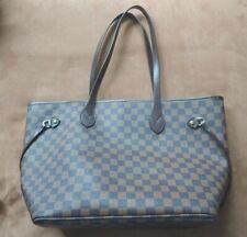 Daisy Rose Checkered Brown Shoulder Tote Bag