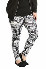 New Ladies Leggings Womens Plus Size Trouser Sugar Skull Gothic Pants Nouvelle