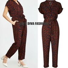 d431c73e67 EX NEW LOOK Leopard Print Tapered leg summer Jumpsuit Size UK 8-18