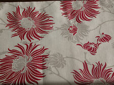"""Laura Ashley Kimono Cranberry 80"""" x 11.5""""  Linen Table Runner Fully Lined. New"""