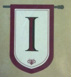 Evergreen Monogram Flag - I