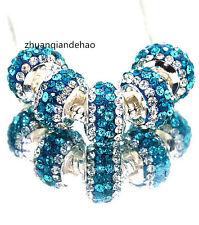 5pcs Gorgeous Czech Crystals Dangle Bead fit European Charm Bracelet K876