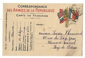 Franchise Correspondance Armées de la République 92 ieme de ligne - janvier 1916