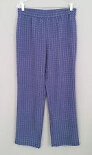 Women's TALBOTS Blue-Green-Orange Flower Print Casual-Beach Pants-Wide Leg Sz.8