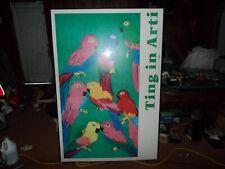 Walasse Ting Parrots Very Large Art Print 42''x 62'' ART UNITED Show Poster RARE