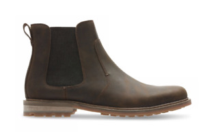 Clarks Foxwell Top Men's Beeswax Leather Chelsea Boots 26148011