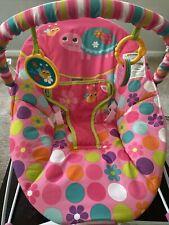 Pretty pink Safari baby bouncer chair