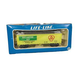 Vintage HO Life-Like Ballantine Ale 40' Advertising Beer Reefer Car D4