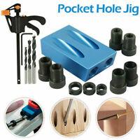 15X Silverline Pocket Hole Jig Kit Screw Dowel Drill Set Locator Joint Hole Tool