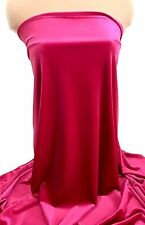 HOT PINK VELVET FABRIC STRETCH BTY FORMAL WEAR, COSTUME, DECOR , CRAFTS, HOLIDAY