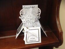 Beautiful handmade Engagement themed pop up greetings card
