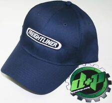 freightliner semi trucker hat ball cap truck adjustable back diesel gear blue