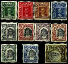 CHILE, COLUMBUS, YEAR 1904-09, COMPLETE SET WITH 12 CENTS UNCIRCULATED, LOT 3148