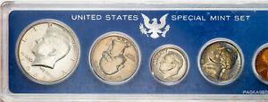 1966-P U.S SPECIAL MINT 5 COIN SET GORGEOUS LUSTER CHOICE UNC BU TONED (MR)
