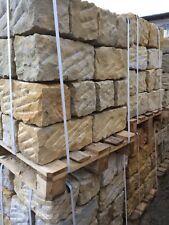 Sandstein Mauersteine allseits gespalten 20/20/40 cm, 1 Pal. mit 30 Stk.