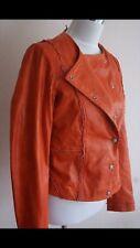 Hugo Boss Orange soft lamb leather jacket women's size AU10