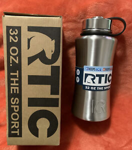RTIC 32oz The Sport Water Bottle Wide Mouth Stainless Steel Gift NEW