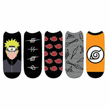 Naruto Shippuden Low Cut 5 Pairs Of Socks NEW Toys Clothing Anime