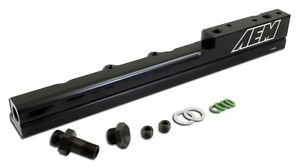 AEM Black Fuel Rail B16A2, B16A3 Honda Civic Si, Del Sol VTEC 25-103BK B16A