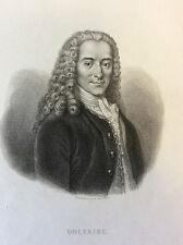 Voltaire écrivain Français impression Gilquin et Dupain circa 1859