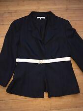 lk Bennett Navy Blue Jacket/blazer 3/4 Sleeve Size 14