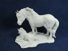 Kaiser Germany Mare & Foal White Bisque Porcelain Figure Limited Edition   S8 LF