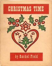 Rachel Field, CHRISTMAS TIME, 1941, First Edition, HC/DJ