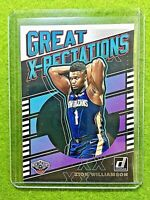 ZION WILLIAMSON ROOKIE CARD JERSEY #1 PELICANS SP INSERT RC 2019-20 Donruss DUKE