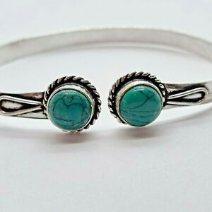 Brand New Silver Plated Turquoise Bracelet