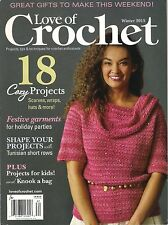 NEW! Love of CROCHET Winter 2015 18 DIY Cozy Projects Scarves Wraps Hats Bag Kid