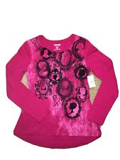 Girl's Uproar long sleeve cameo / silhouettes school top shirt girl M 10/12 pink