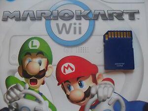 Mario Kart Nintendo Wii SD Memory Card UNLOCKED Save File Access ALL Tracks Cars