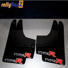 Rallyflapz Kaylan Mudflaps Honda Civic Type R (FN2) Black + Large Type R Logo
