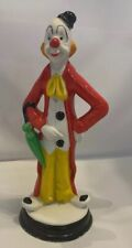 Vintage Porcelain Clown Figurine 7 1/2� - Made In Taiwan