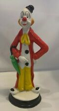 "Vintage Porcelain Clown Figurine 7 1/2"" - Made In Taiwan"